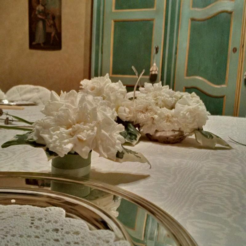 centro tavola bianco