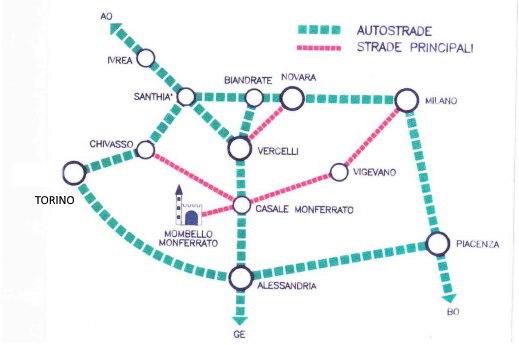 come arrivare a Palazzo-Tornielli